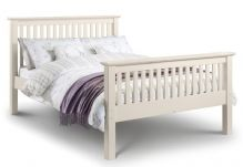 Barcelona White High Foot End Double Bed 135cm